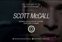 """Scott McCall / """"My mom does all the grocery shopping."""" A Scott McCall inspired collection of clothes, jewellery & sundry."""