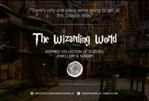 """The Wizarding World / """"There's only one place we're going to get all this. Diagon Alley."""" A Wizarding World inspired collection of clothes, jewellery & sundry."""