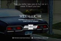 """Impala / """"Hey, you better take care of that car or I swear I'll haunt your ass."""" (AKA Metallicar AKA Baby) An Impala inspired collection of clothes, jewellery & sundry."""