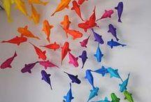 papier, origami