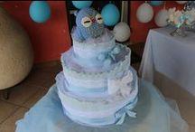 ISI EVENTI ♡  Diaper Cake (Torta di Pannolini) ♡ /  Diaper Cake _ Torta di Pannolini