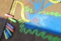 Sidewalk Chalk Activities for Kids / Creative, fun, and educational sidewalk chalk activities for kids!