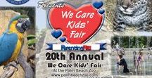 We Care Kids' Fair At The Palm Beach Zoo / Saturday March 4th & Sunday March 5th This is an event thousands of South Florida families look forward to every year, the We Care Kids' Fair at the Palm Beach Zoo. The event will take place on Saturday & Sunday, March 4th & 5th from 10 a.m. to 4 p.m. The annual event provides kids with hands-on cultural and educational activities within the Zoo's 23 acres of lush tropical habitat where more than 1,400 animals live. Activities include professional face painters, animal-themed crafts and games.