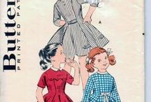 Vintage Sewing Patterns 1940's & 1950's - Girls / Vintage sewing patterns we have available plus others from other sites.  www.vintagestitching.com