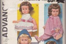 Vintage Sewing Patterns for Dolls / Some of the doll clothes vintage patterns that we have available on our site. www.vintagestitching.com