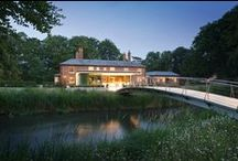 Water Mill, Berkshire / Renovation of Main House and guest accommodation. Orangery extension and bridge to landscaped gardens