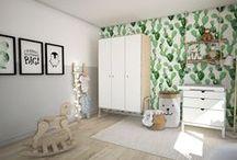 _Interieurontwerp_ Babykamer_ Pas op! Cactusjes prikken / Scandinavische babykamer in lichte, natuur tinten. Onze inspiratie: cactussen in combinatie met natuurlijke materialen. www.woonmakers.nl