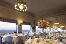 The Pavilion Room @ Highlawn / Highlawn Pavilion's elegant banquet space is set on the top floor of this historic structure, which itself stands at the crest of Eagle Rock Reservation, surrounded by over 400 acres of nature preserve and parkland. The Pavilion Room offers Highlawn's grandest bird's-eye views of the striking Manhattan skyline and looks out over all of the surrounding towns below. (www.highlawn.com/pavilionroom)