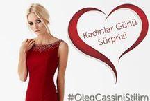 """Kadınlar Günü Sürprizi / 8 Mart Kadınlar Günü'ne özel düzenlenen yarışmamıza katılmak için Facebook'ta yer alan """"Kadınlar Günü Sürprizi"""" albümündeki elbiseler arasında en beğendiğin model ile kombin yap, #OlegCassiniStilim etiketi ile Instagram'da paylaş, kombinde kullandığın elbiseyi kazan!  Oleg Cassini Instagram hesabı için tıklayınız: http://instagram.com/olegcassini/"""