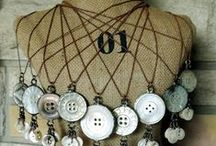 Button Jewelry / jewelry made from collectible buttons / by Deborah Hendrickson