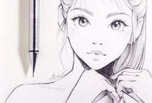 Mujeres dibujadas
