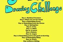 30 Days Drawing Challenge / ( 30 Dní Kreslenia )