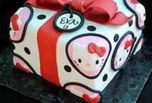 Reposteria hello cumpleaños / Tortas y dulces