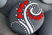 Paintet stone / Mal på sten