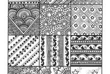 zen tangled art / Zen tangled art patterns