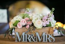 Wedding Flowers / Some fresh scented, rich coloured, beautifully arranged floral decoration.