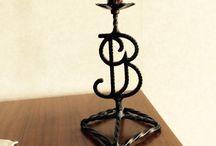 Smide ljusstakar / Smide, bordsljusstakar i smide, smed, table candles holder blacksmith