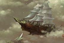 Steampunk / Luftschiffe & Fliegerbrillen