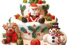 Christmas Cakes and Cupcakes / Stunning ideas for a magical Christmas cake or mini-cakes