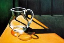 Iwona Wojewoda egg tempera / Interiors,painting,still life,light and shadow