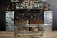 Industry City / Raw materials, repurposed antiques, raw, organic elements, understated chic.