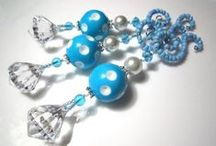 Winter Wonderland / Christmas Decorations and Ornaments in a white, silver, blue and turquoise theme