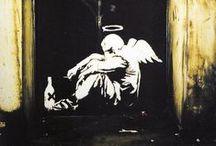 Street art / especially Banksy