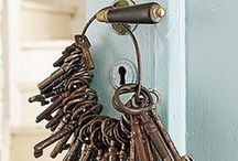 Keys,Locks and Doorknobs. / The Mystery of Behind Closed Doors. / by Judy Smith