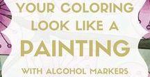 Coloring tips + techniques / coloring tips, coloring techniques, coloring tutorials, coloring ideas