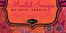 Mental Images vol 1 coloring book / mental images vol 1, colored pages, coloring book, adult coloring, coloring inspiration