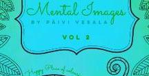 Mental Images vol 2 coloring book / mental images vol 2, colored pages, coloring book, adult coloring, coloring inspiration