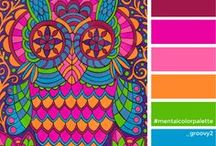 Color palettes / color palettes for coloring, color therapy, healing colors