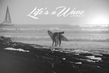 Life's a Wave / That's a wonderful time. It's excited to see the sunset accompanied by the sound of the waves. Seeing the real fun that the see or, perhaps better to say, Ocean gives us.