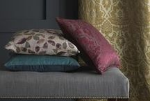 Karmina Collection - Autumn/Fall 2015 / The new Karmina collection features three decorative jacquard designs - 'Laurel', 'Cynara' and 'Acacia' - for drapery with complementing, reversible plain 'Crystal' ideal for both drapery and upholstery. Also new for Autumn are 11 contemporary colours of our popular linen 'Serafina 1110'. This versatile linen has a beautiful soft antique finish and is ideal for both upholstery and drapery. Now available in 40 colourways.