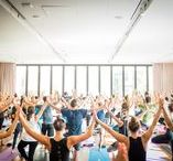 Sunday Ritual at SCH / Sunday Ritual is a monthly yoga series at South Congress Hotel. Taught by Kate Waitzkin of Wanderlust Yoga and sponsored by Outdoor Voices.