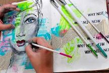Journal inspiration / Art journals, smashbooks, notebooks, journals, journaling, art journaling, visual journal, crafting, craft, diy, do it yourself, art, notes, writing.
