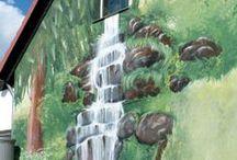 Fassadenmalerei/ Wandmalerei Hannover / Individuell gestaltete Wandgestaltung und Fassadenmalerei.