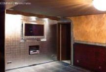 Wellnessbereich Privat, Blattsilber in Form einer Wandgestaltung / Eine aufwändige Malerei, marokkanischer Tadelakt und Blattsilber zaubern im Zusammenspiel ein einzigartiges Raumkonzept.