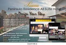 Contact Us / ADDRESS  PENINSULA RESIDENCE ALL SUITE HOTEL 10, Jalan Semantan, Bukit Damansara, 50490 Kuala Lumpur, Malaysia. CONTACT  Tel. No: +603 2084 1515  Fax No: +603 2084 1500  E-mail: inquiry@peninsula-residencekl.com  GPS Coordinates: 3° 09' 01.93''N 101° 40' 12.9''E