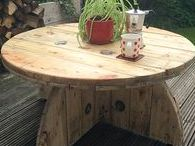 Cable spool table's / Recycled cable spool table's