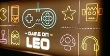Retro Video Game inspired, personalised lightbox. / Game on! Retro video game fun and games.