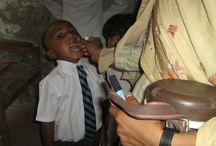 Polio Campaign / The Pakistan government has recently had a campaign to eradicate polio. Pakistan is one of the few countries where many children have not been vaccinated. It is an uphill battle. Many  parents don't allow their children to be vaccinated because of superstition and ignorance.