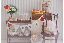 I HEART Dessert Table
