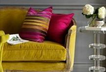 Interior decoration with colour / Interiors with good use of beautiful colours