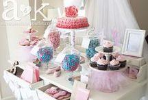 A&K Lolly Buffet {Pretty Pink & Blue Ballerina Dessert Table} / http://aandklollybuffet.com/2013/12/08/6th-birthday-pink-and-blue-ballerina-dessert-buffet/