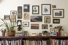 Gallery Wall / A gallery or salon wall is a collection of small works of art and/or mementos and family photographs. I love helping my clients put together gallery walls that are beautiful and personally meaningful!