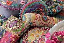 15.10. Bohemian. Pillows. Pouf.