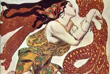 """7.2. ART. Artist. Leon Bakst /russian art/. / Leon Nikolaevich Bakst (1866-1924) - Russian painter, stage designer, book illustrator, master of painting and theater, schedules, one of the most prominent figures of the """"World of Art"""", and theatrical and artistic projects Diaghilev."""