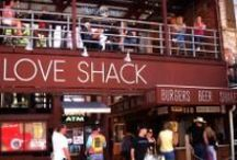 LOVE SHACK and BURGERS GALORE / Love Shack Food, Contest, merch and more