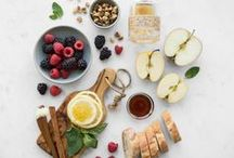 Food Flatlays / Photography of food and ingredients styled as in a flat lay format.